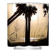 Double Palms Shower Curtain