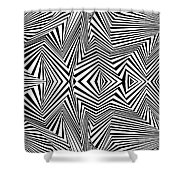 Double Punch Shower Curtain