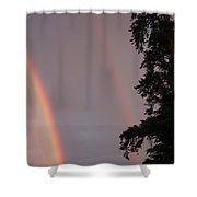Double Rainbow Shower Curtain