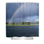 Double Rainbow At Alum Creek Shower Curtain