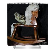 Double Seat Rocking Horse Shower Curtain