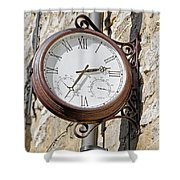 Double Sided Station Clock - Bakewell Shower Curtain