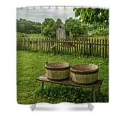 Double Tubs Shower Curtain