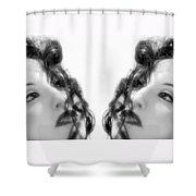 Double Vacancy - Self Portrait Shower Curtain