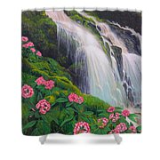 Double Hawaii Waterfall Shower Curtain