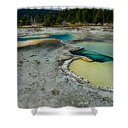 Doublet Pool Hot Spring In Yellowstone Shower Curtain