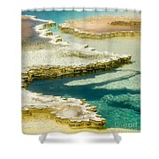 Doublet Pool In Yellowstone Shower Curtain