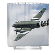 Douglas C-47 Dakota Za947 Shower Curtain