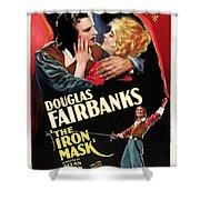Douglas Fairbanks In The Iron Mask 1929 Shower Curtain
