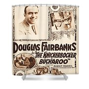 Douglas Fairbanks In The Knickerbocker Buckaroo 1919 Shower Curtain