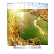 Douro River At Sunset Shower Curtain