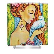 Dove Fairy Shower Curtain