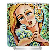 Dove Forest Fairy Shower Curtain