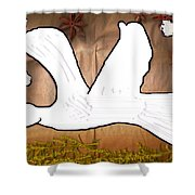 Dove In White Shower Curtain
