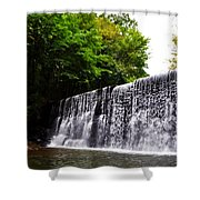 Dove Lake Waterfall Shower Curtain