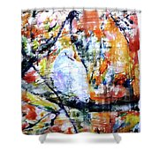 Dove On The Yellow Tree Shower Curtain