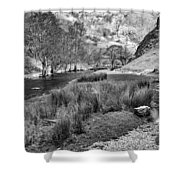 Dovedale, Peak District Uk Shower Curtain by John Edwards