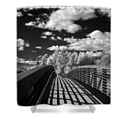 Dover Slough Bridge 1 Shower Curtain