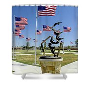 Doves And Flags Shower Curtain