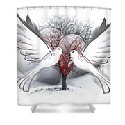 Doves Of Peace Shower Curtain