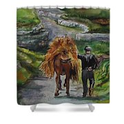 Down A Country Lane Shower Curtain