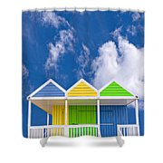 Down At The Beach Shower Curtain