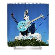 Down At The Crossroads Shower Curtain