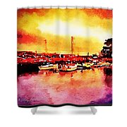 Down By Dock 2 Shower Curtain