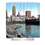 Down By The Lake Shower Curtain