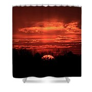 Down For The Count Sunset Art Shower Curtain