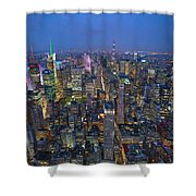 Down In The City  Shower Curtain