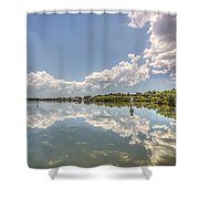 Down The Bay Shower Curtain