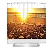 Down The Beach #beach Shower Curtain