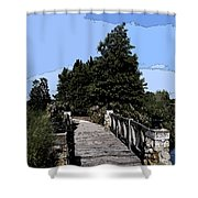Down The Bridge Shower Curtain