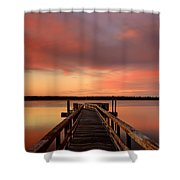 Down The Dock Shower Curtain