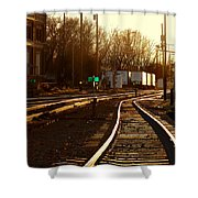 Down The Right Track 2 Shower Curtain