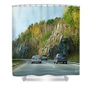 Down The Road On Route 89 Shower Curtain