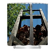 Down The Shaft Virginia City Nv Shower Curtain