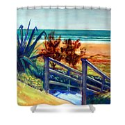 Down The Stairs To The Beach Shower Curtain