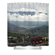 Down The Valley At Snowmass Shower Curtain