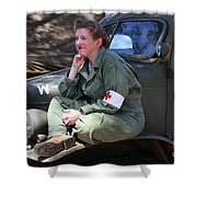 Down Time-us Army Nurse Corps Shower Curtain