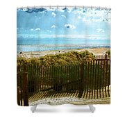 Down To The Beach Shower Curtain
