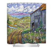 Down To The Fjord Shower Curtain