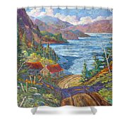 Down To The Lake Shower Curtain