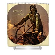Down To The Sea 2 Shower Curtain