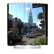 Down Town Charleston Shower Curtain