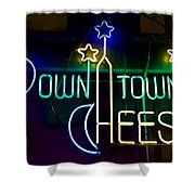 Down Town Cheese Shower Curtain