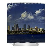 Down Town Tampa Shower Curtain