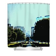 Down University Avenue Shower Curtain