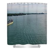 Downbound At Belle Isle Shower Curtain